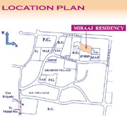 Miraaj Residency Location Map
